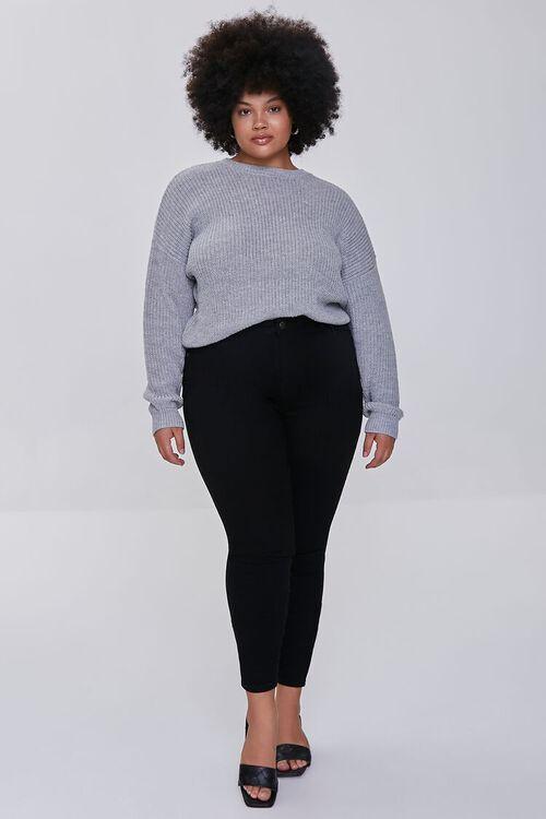 BLACK Plus Size Basic Skinny Jeans, image 1
