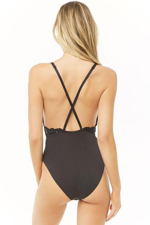 Semi-Sheer Lace Bodysuit, image 3