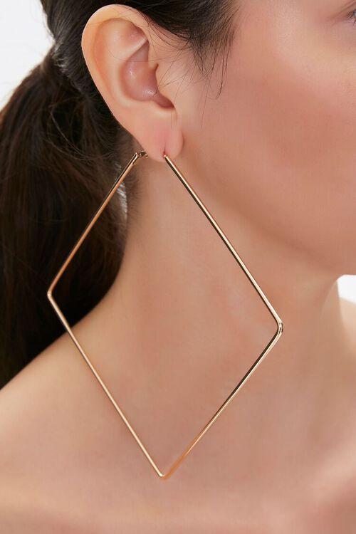 GOLD Diamond Hoop Earrings, image 1