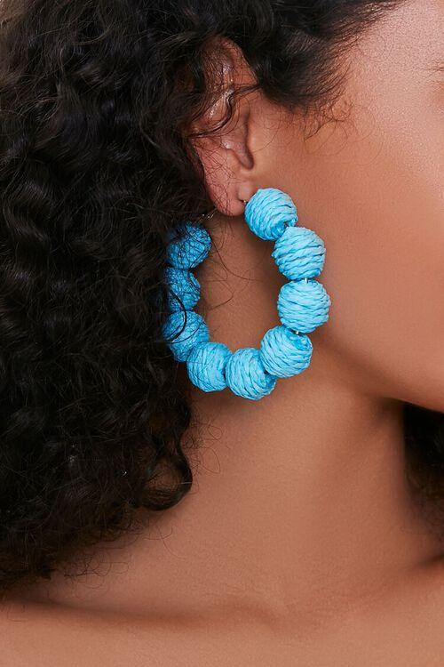 Threaded Ball Hoop Earrings, image 1