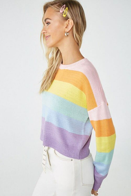Rainbow Striped Sweater, image 2