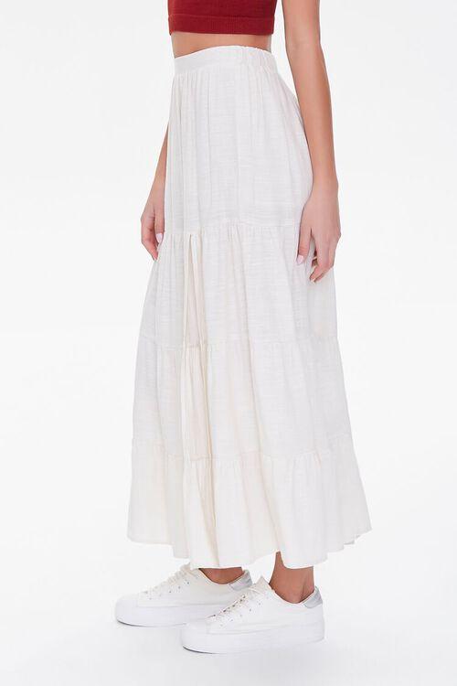 Tiered Linen-Blend Midi Skirt, image 3