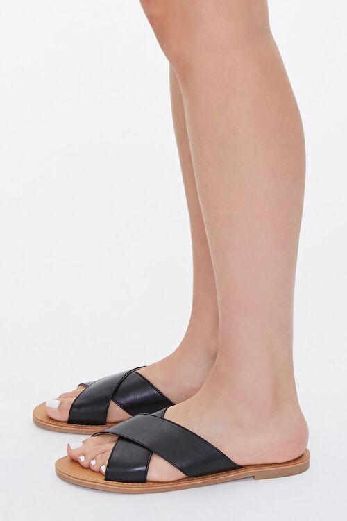 Faux Leather Crisscross Sandals, image 2