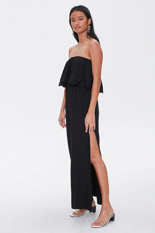 Strapless Crochet-Trim Maxi Dress, image 2