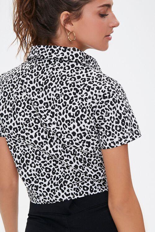 Leopard Print Self-Tie Shirt, image 3