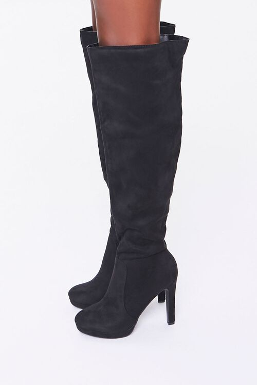 Faux Suede Stiletto Boots, image 2
