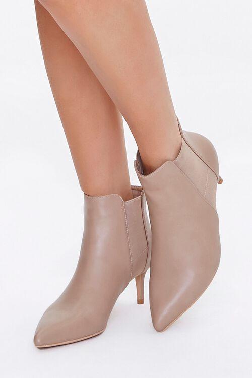 Faux Leather Stiletto Chelsea Boots, image 1