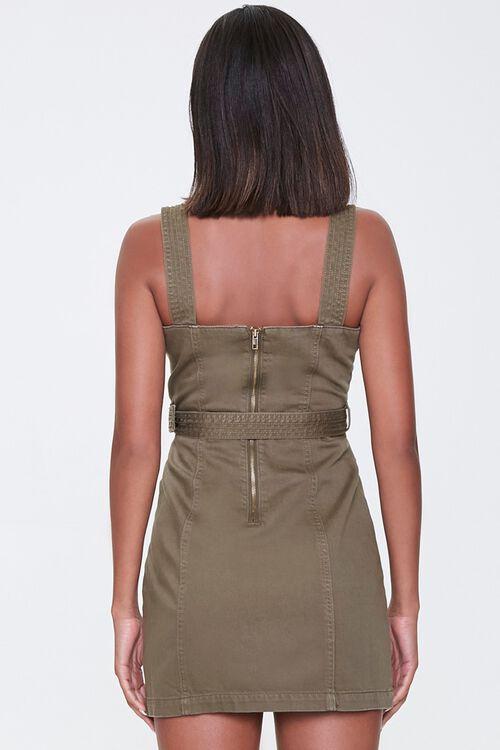 OLIVE Belted Twill Mini Dress, image 3