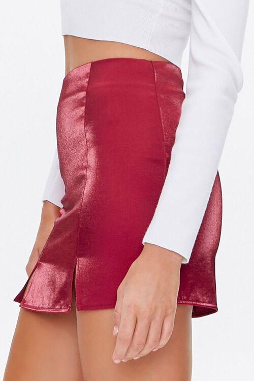 Metallic M-Slit Mini Skirt, image 3