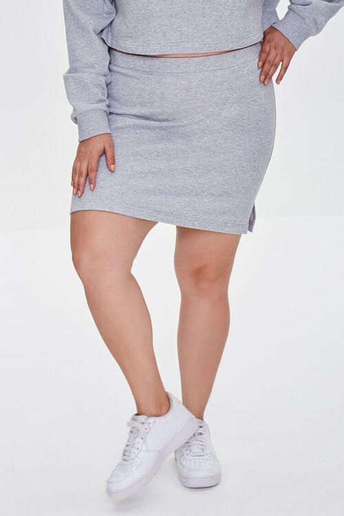 Plus Size Bodycon Mini Skirt, image 2