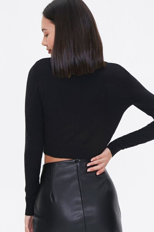 Shoulder-Pad Cardigan Sweater, image 3