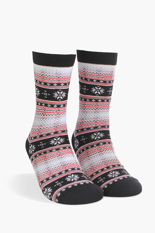 Men Fair Isle Crew Socks, image 1