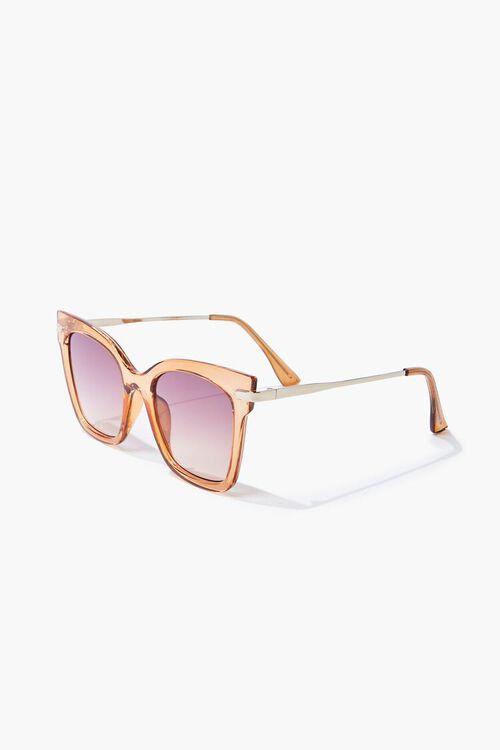 Semi-Transparent Ombre Square Sunglasses, image 1