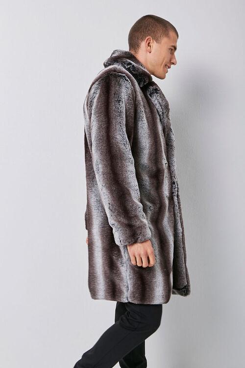 Faux Fur Striped Print Coat, image 2