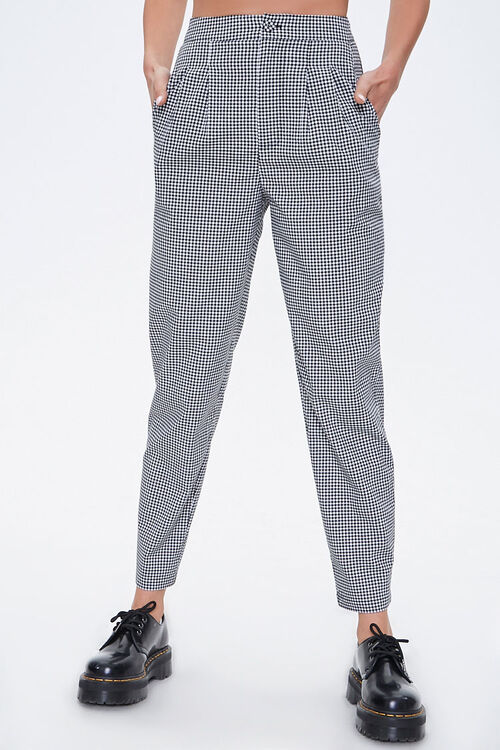 Gingham Cropped Pants, image 2