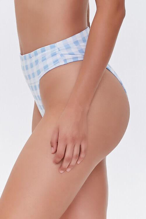 Gingham High-Rise Bikini Bottoms, image 4