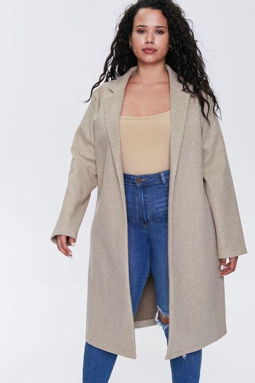 Plus Size Heathered Duster Jacket, image 4