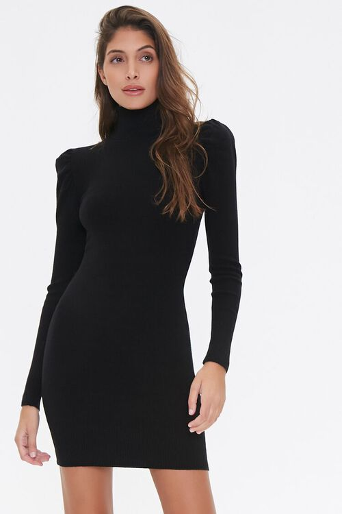 Turtleneck Sweater Dress, image 1