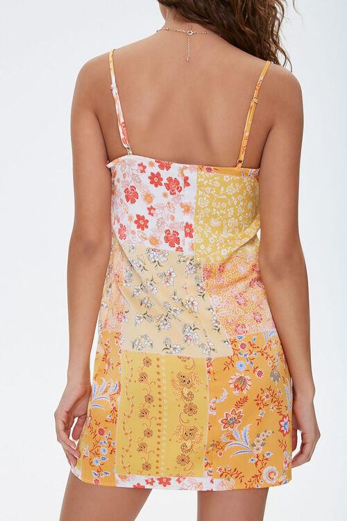 Floral Vented-Hem Satin Dress, image 3