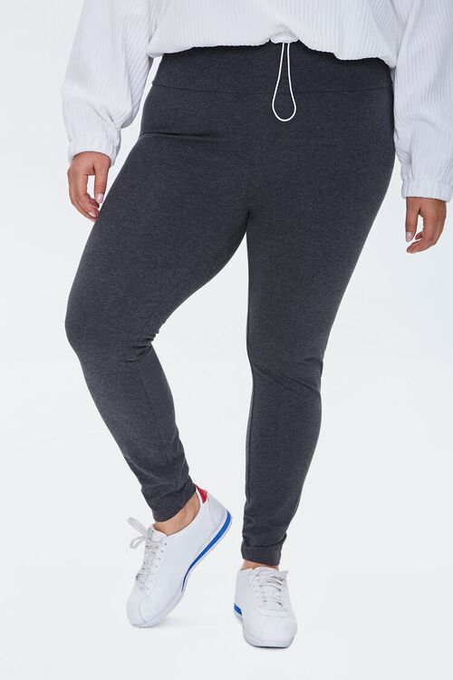 Plus Size High-Rise Long Leggings, image 2