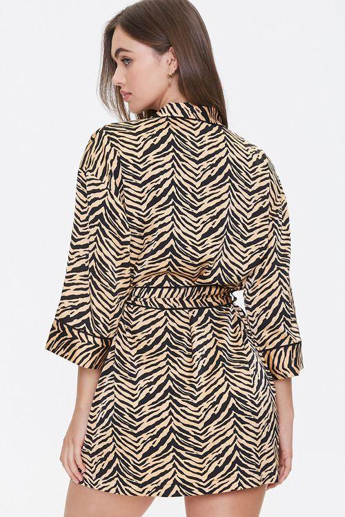 Satin Tiger Stripe Robe, image 3