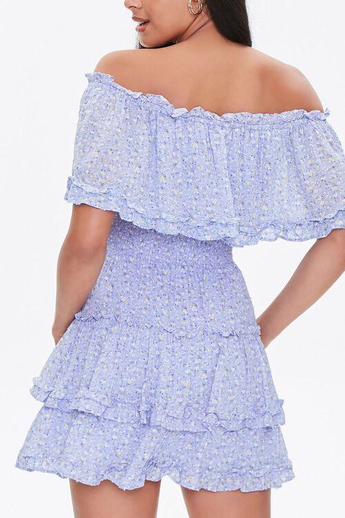Off-the-Shoulder Floral Print Dress, image 3