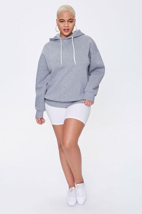 Plus Size Fleece Drawstring Hoodie, image 4