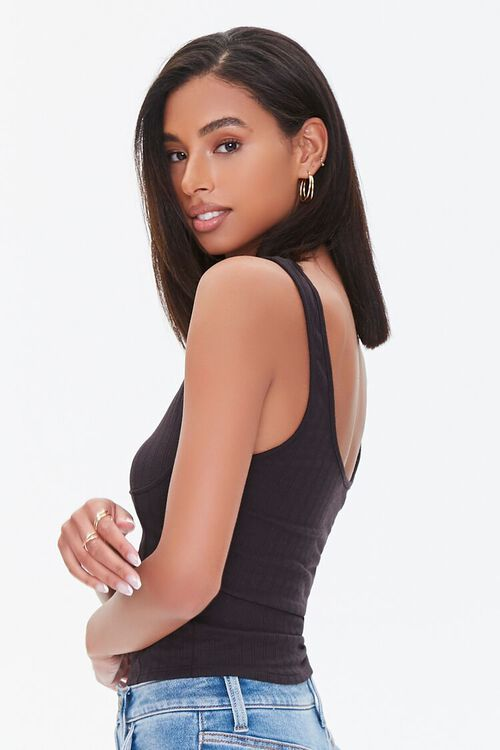 Ribbed Knit Bustier Tank Top, image 2
