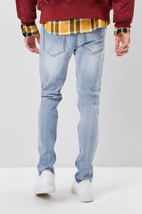 Bleached Distressed-Panel Jeans, image 4