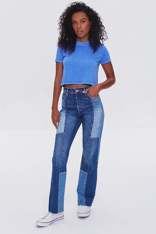 Cropped Mineral Wash Tee, image 4