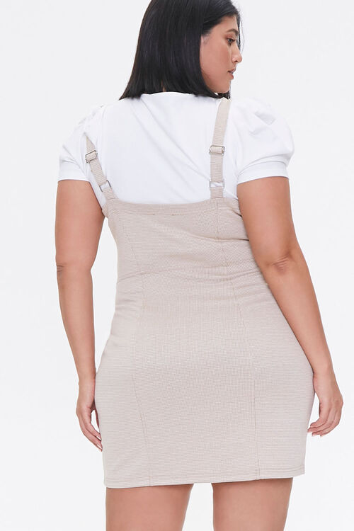Plus Size Zippered Pinafore Dress, image 3