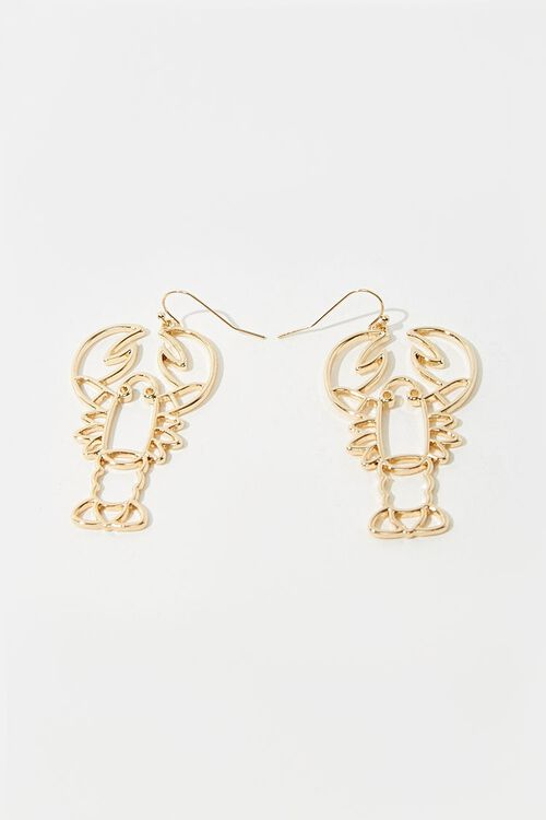 GOLD Lobster Cutout Drop Earrings, image 3