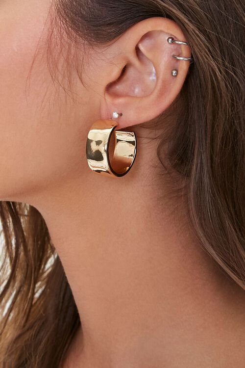 Wide High-Polish Hoop Earrings, image 1