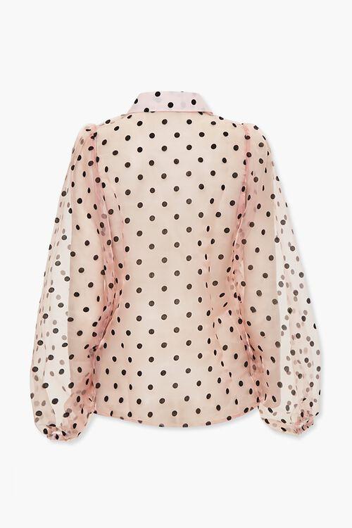 Sheer Organza Polka Dot Shirt, image 3