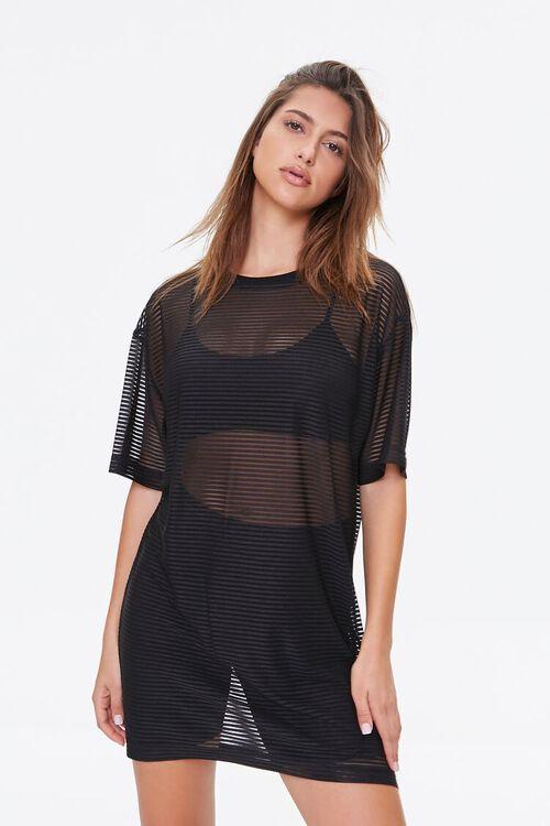 Shadow-Striped T-Shirt Dress, image 1
