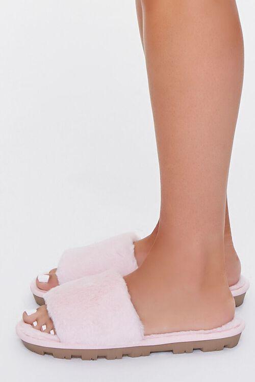 Faux Fur Lug Sole Slippers, image 2