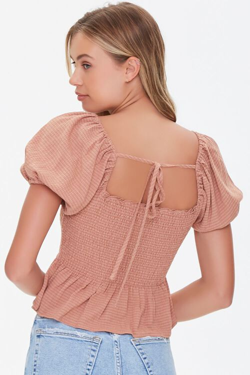 Striped Puff-Sleeve Top, image 3