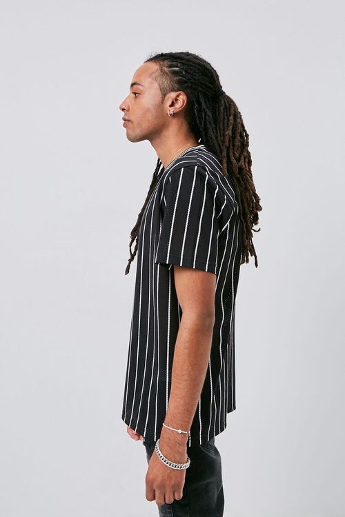 Vertical Striped Print Jersey Mesh Tee, image 2