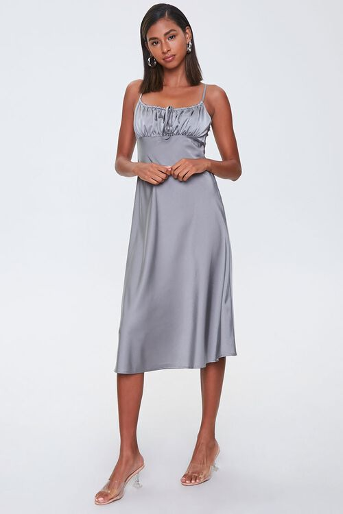 Ruched Satin Dress, image 4