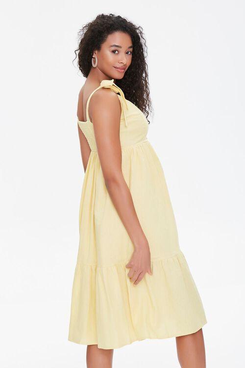 Buttoned Self-Tie Midi Dress, image 2