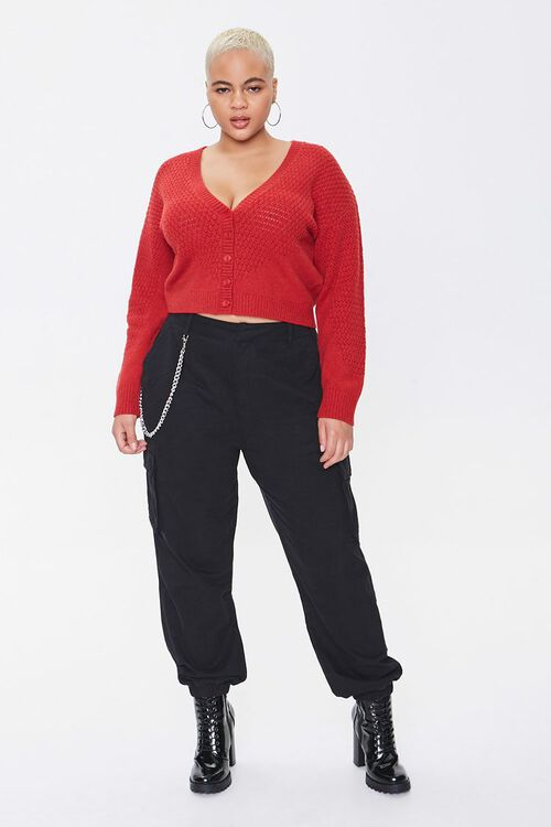 Plus Size Textured Cardigan Sweater, image 4