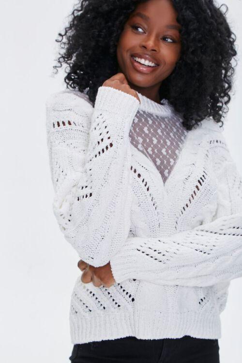 Illusion Mesh Sweater, image 1