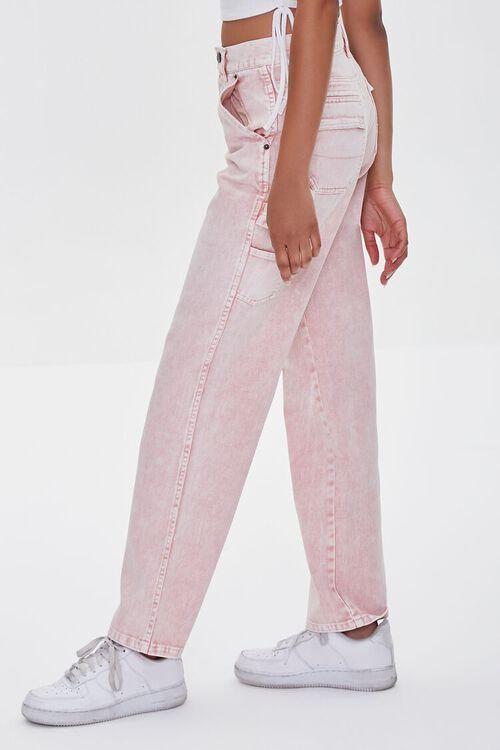 Acid Wash Cargo Jeans, image 2