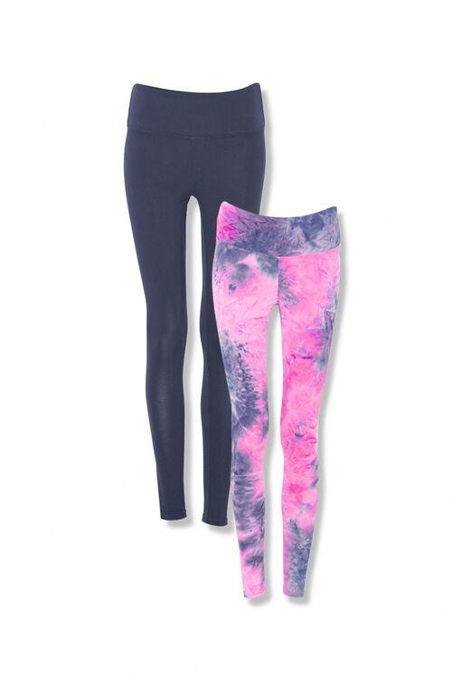 DENIM/MULTI Tie-Dye Leggings Set, image 1