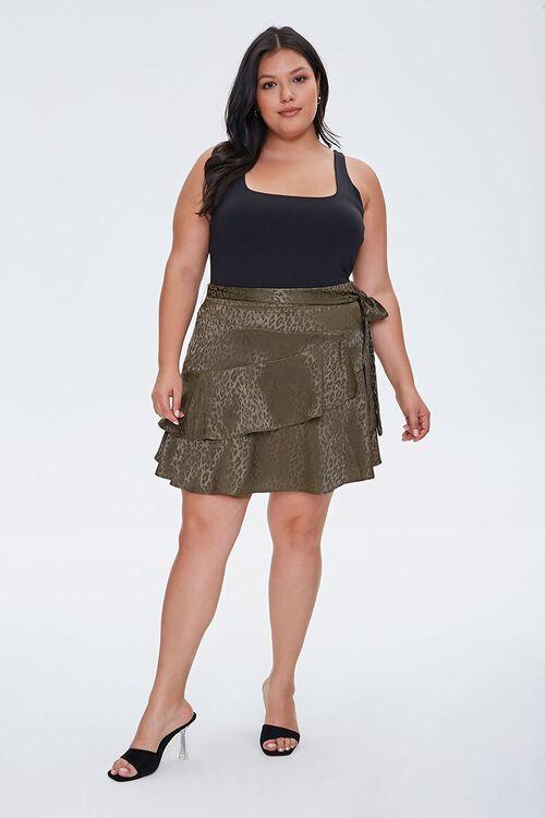 Plus Size Leopard Print Skirt, image 4
