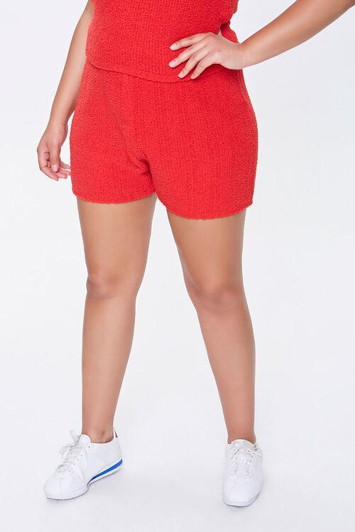 Plus Size Ribbed Tank Top & Shorts Set, image 4