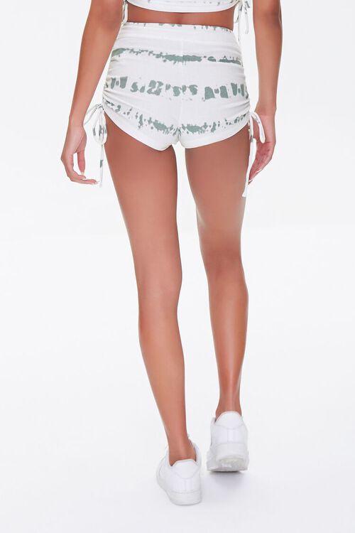 Tie-Dye Ruched Drawstring Shorts, image 4