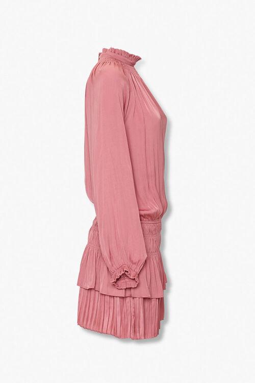 Tiered Mock Neck Peasant Dress, image 2