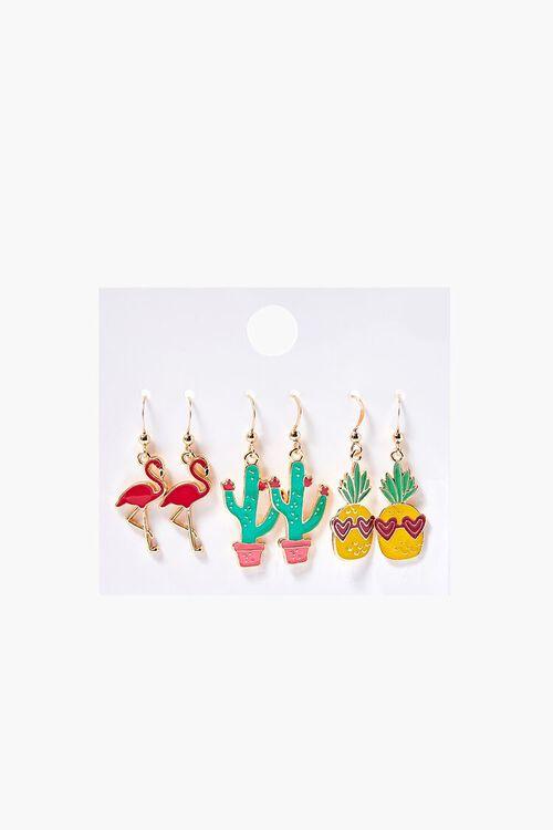 Cactus Pendant Drop Earrings, image 1