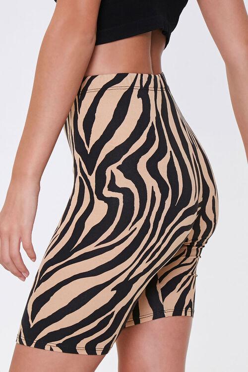 Tiger Print Biker Shorts, image 3